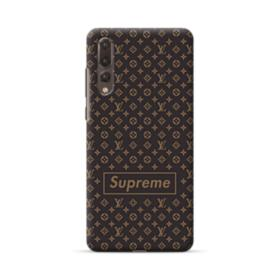Classic Louis Vuitton Brown Monogram x Supreme Logo Huawei P20 Pro Case