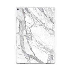 White & Grey Marble iPad Pro 10.5 (2017) Clear Case