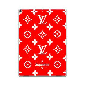 Classic Red Louis Vuitton Monogram x Supreme Logo iPad Pro 12.9 (2017) Case