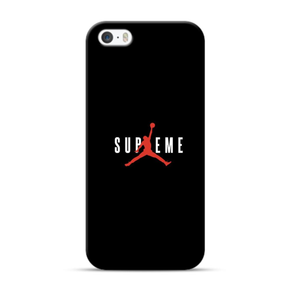 premium selection bf679 26b2f Black Classic Supreme x Jordan iPhone 5S, 5 Case