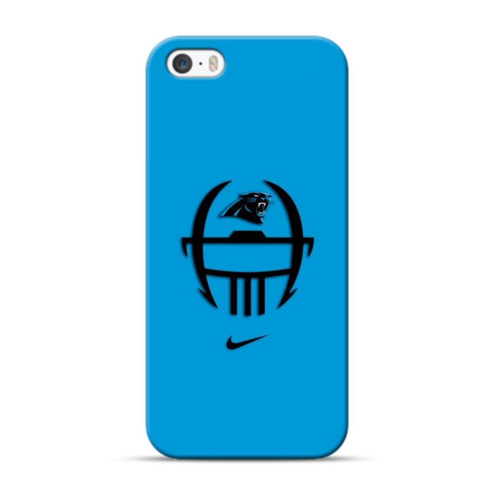 hot sales 61cc4 92563 Carolina Panthers Logo Nike Football Shape iPhone 5S, 5 Case