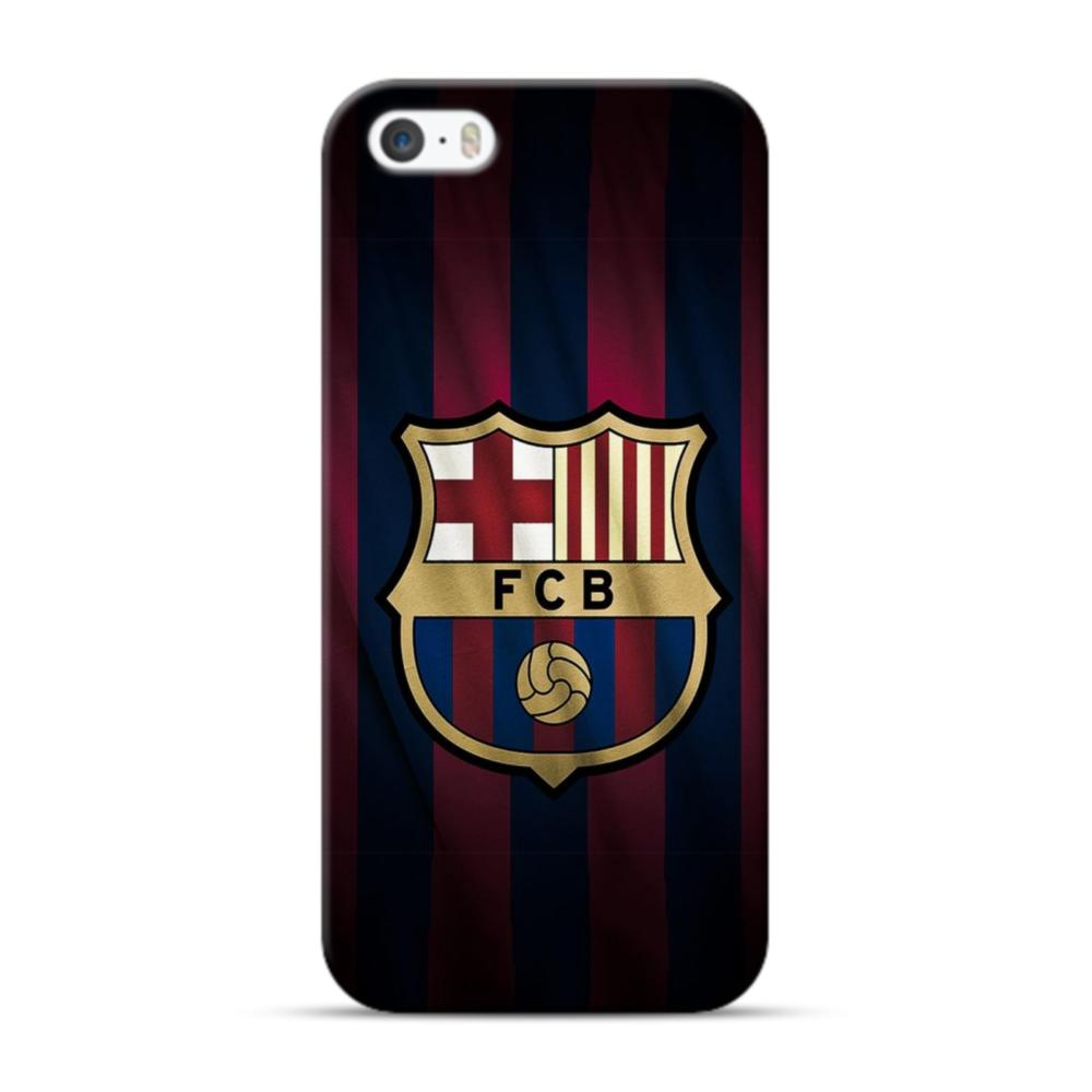 Fc Barcelona Logo Fabric Iphone 5s 5 Case Caseformula