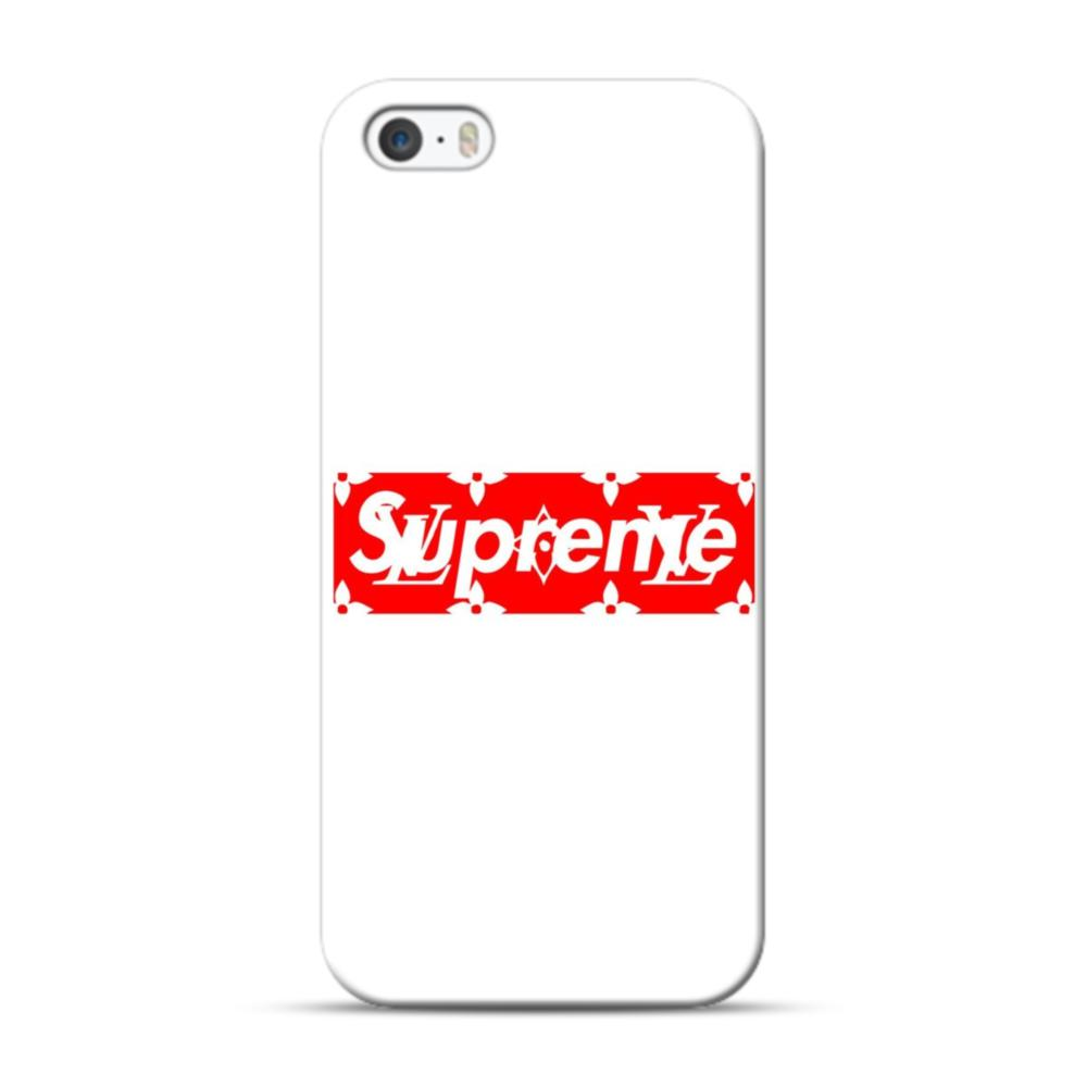 best service a54c9 26177 Louis Vuitton Monogram x Supreme Logo iPhone 5S, 5 Case