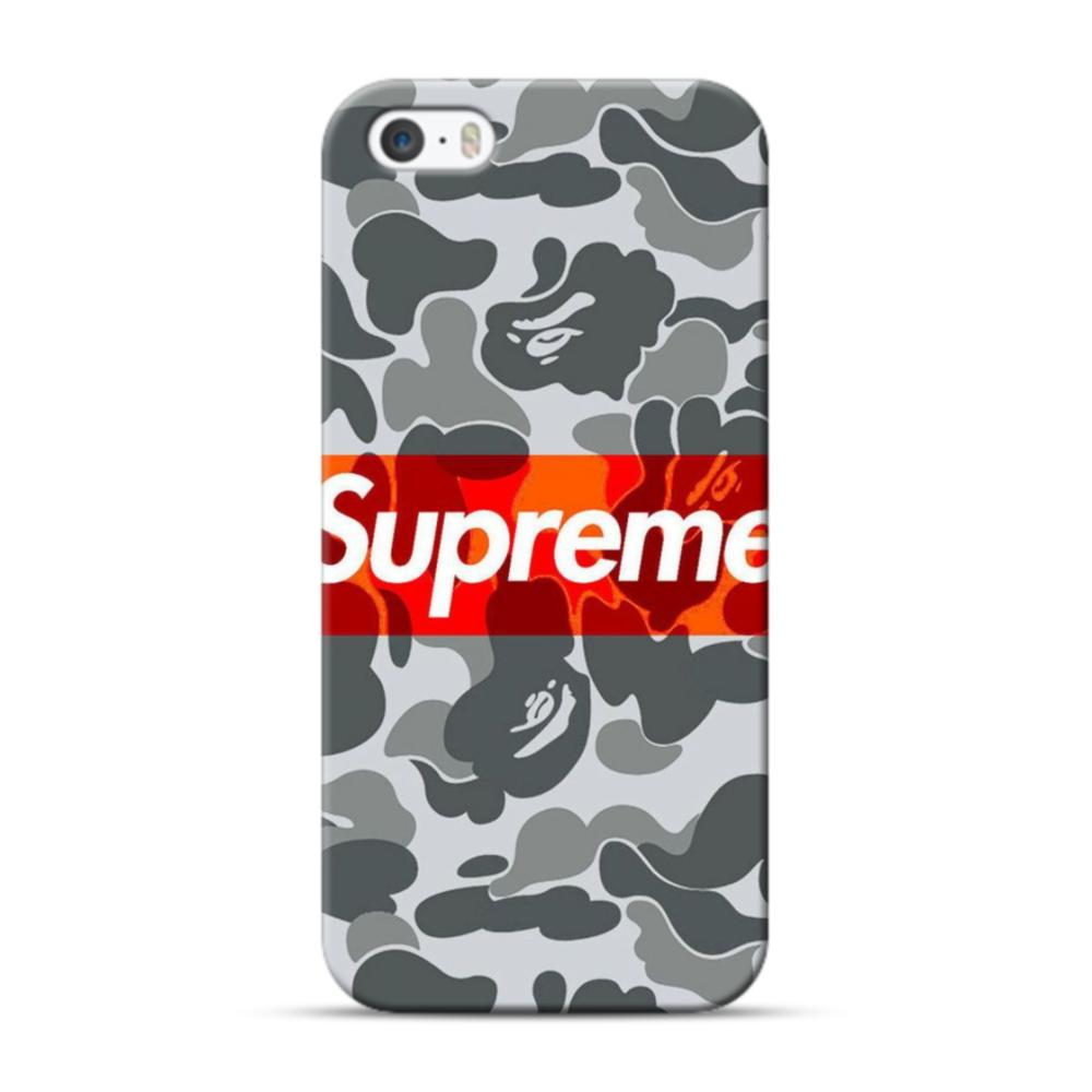Supreme Camouflage Pattern iPhone 5S, 5 Case