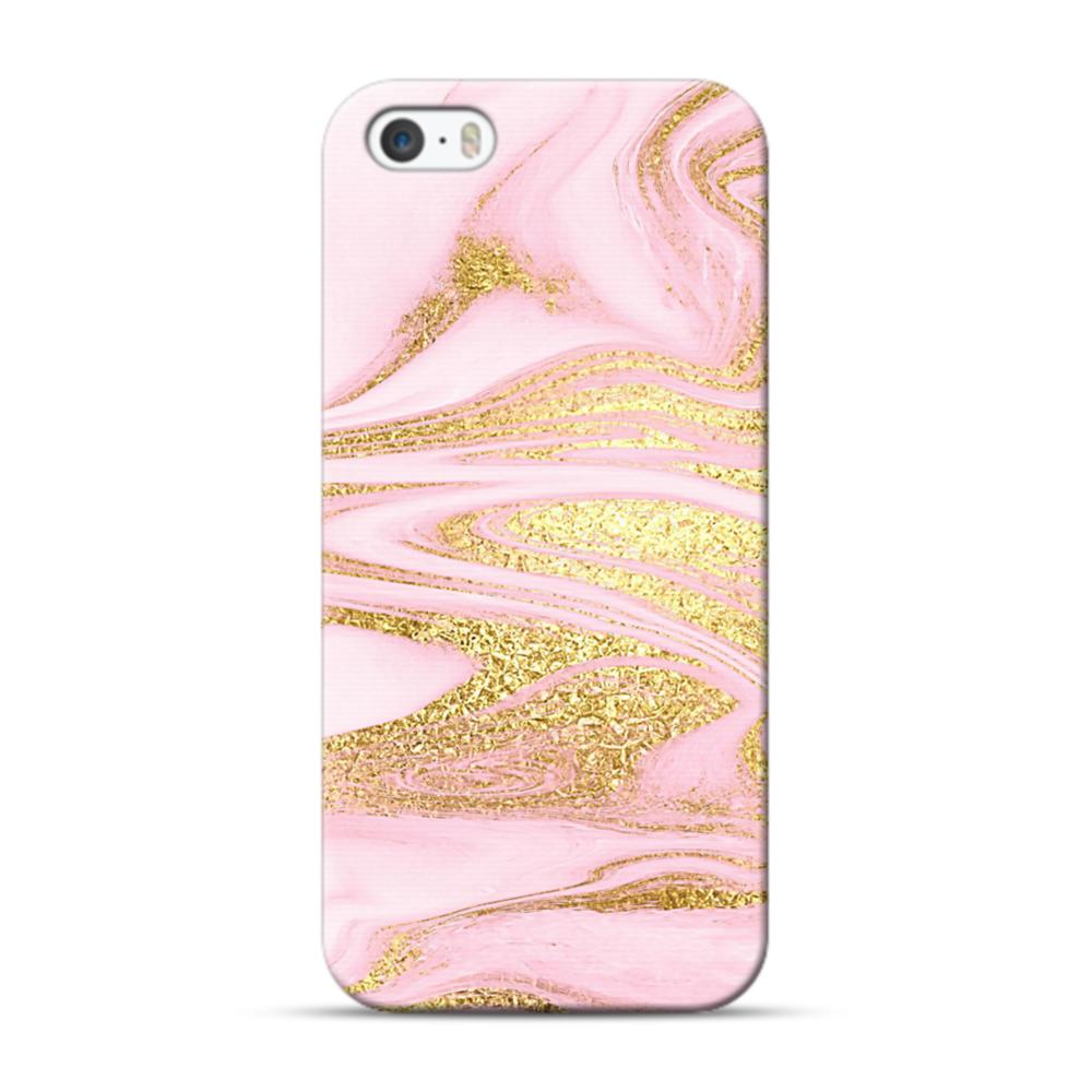 check out 399b3 9961f Pink & Gold iPhone 5S, 5 Case