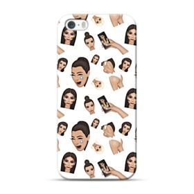 Kim Kardashian Emoji Kimoji seamless iPhone 5S, 5 Case