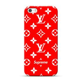 Classic Red Louis Vuitton Monogram x Supreme Logo iPhone 5S, 5 Case