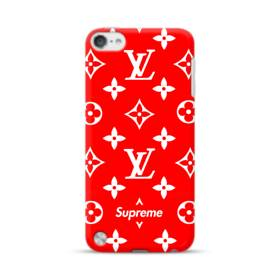 Classic Red Louis Vuitton Monogram x Supreme Logo iPod Touch 5 Case