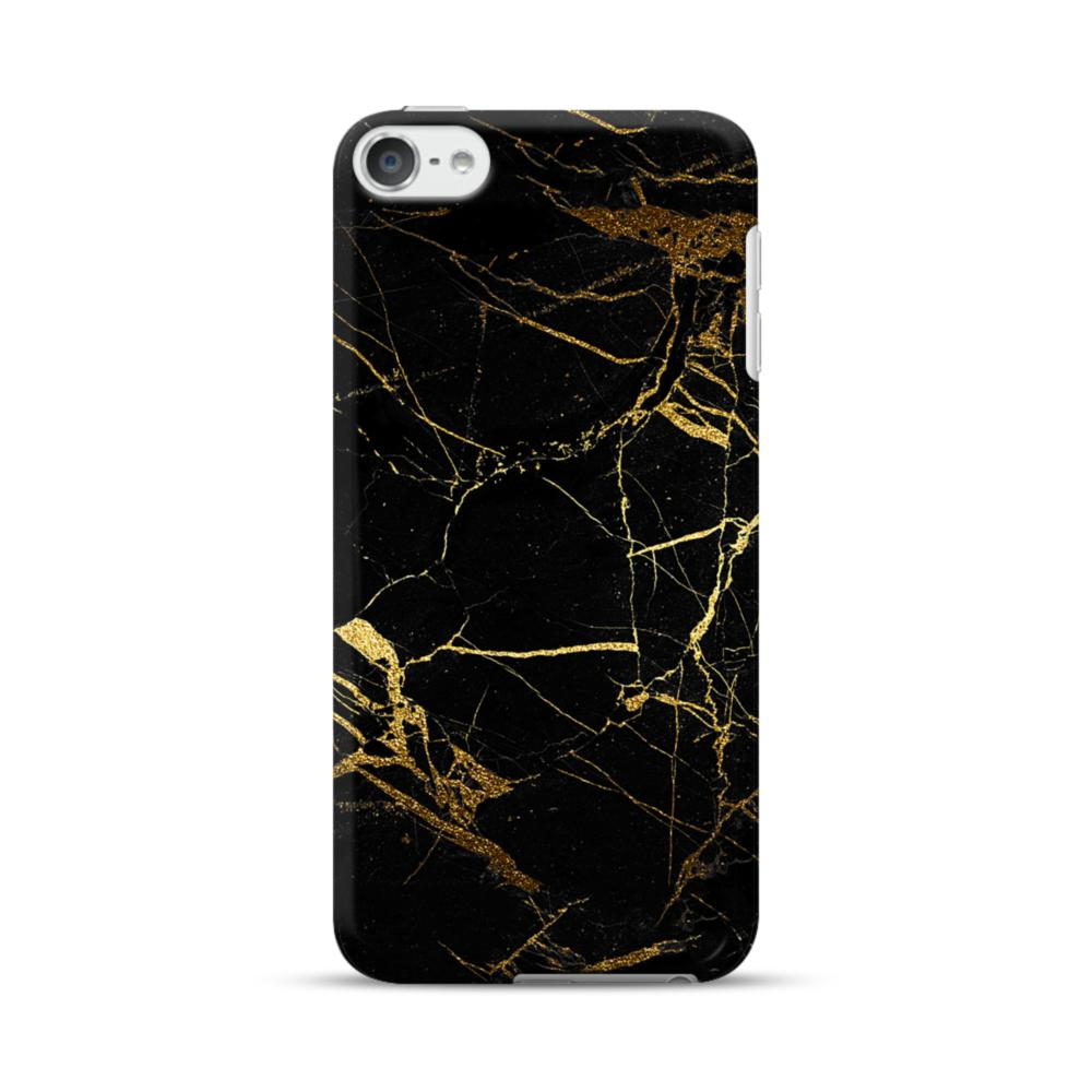 new concept 297ff 9bb4e Black & Gold Marble iPod Touch 6 Case