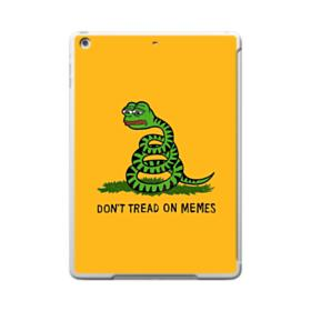 Pepe the frog don't tread on memes iPad 9.7 (2017) Clear Silicone Case