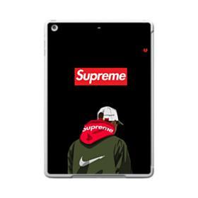 Supreme x Nike Hoodie iPad 9.7 (2017) Clear Silicone Case