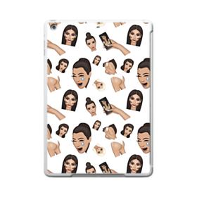 Kim Kardashian Emoji Kimoji seamless iPad 9.7 (2017) Clear Silicone Case