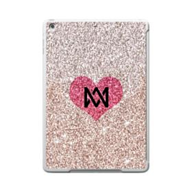 Heart Gold Glitter iPad 9.7 (2017) Clear Silicone Case