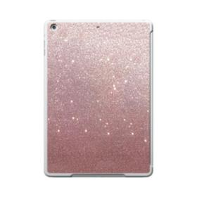Rose Gold Glitter iPad 9.7 (2017) Clear Silicone Case