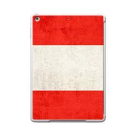Flag of Austria Grunge iPad 9.7 (2017) Clear Silicone Case