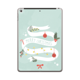 Merry Christmas Deco Banners iPad 9.7 (2018) Case