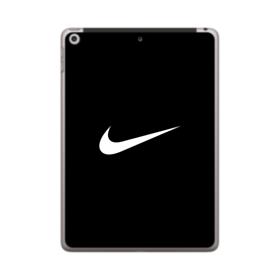 Nike Logo Black iPad 9.7 (2018) Clear Case