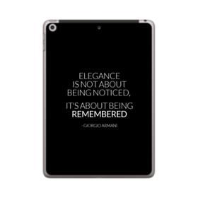 Giorgio Armani Best Quote iPad 9.7 (2018) Clear Case