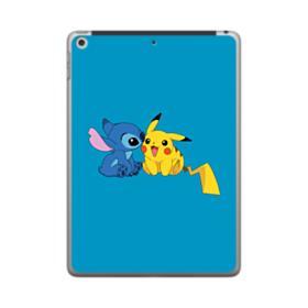 Stitch X Pikachu iPad 9.7 (2018) Clear Case