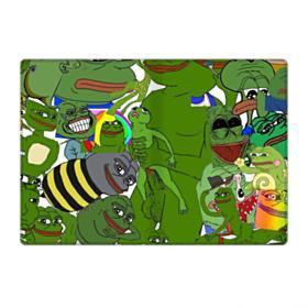 Rare pepe the frog seamless iPad 9.7 (2018) Folio Case