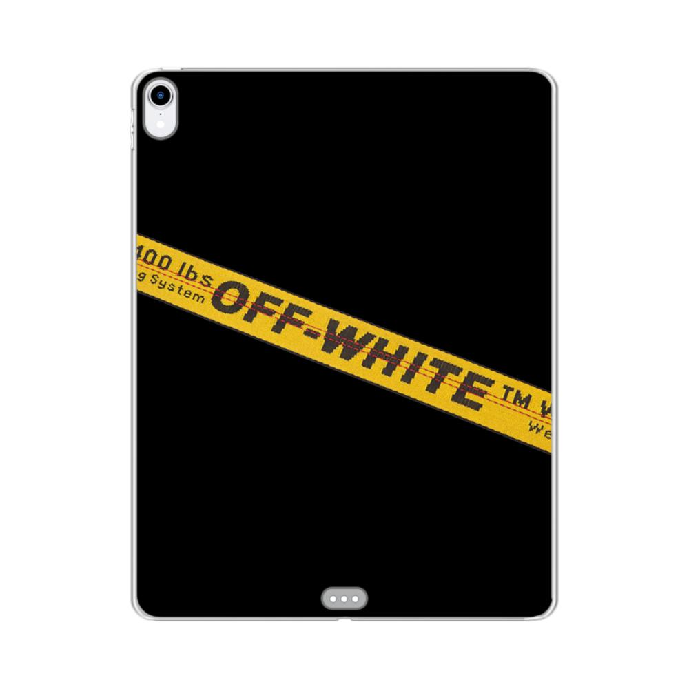 online store 0a73b bda18 Off White Lining iPad Pro 11.0 (2018) Clear Case