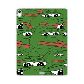 Sad Pepe frog seamless iPad Pro 11.0 (2018) Clear Case