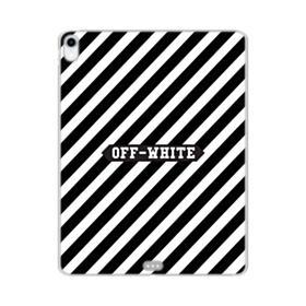 Off-White Label Stripes iPad Pro 11.0 (2018) Clear Case