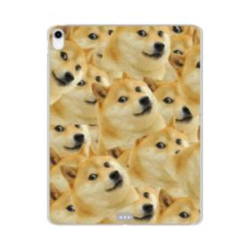 Doge meme seamless iPad Pro 11.0 (2018) Clear Case