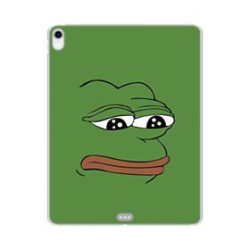 Sad Pepe frog iPad Pro 11.0 (2018) Clear Case
