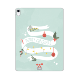 Merry Christmas Deco Banners iPad Pro 11.0 (2018) Clear Case