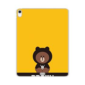 Line Friends Brown Give You Luck iPad Pro 12.9 (2018) Clear Case