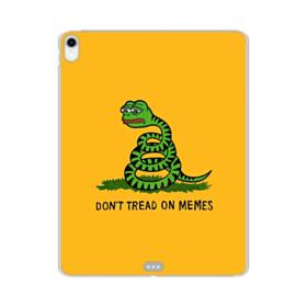 Pepe the frog don't tread on memes iPad Pro 12.9 (2018) Clear Case