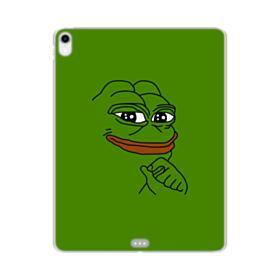 Smug Pepe Frog Funny Meme iPad Pro 12.9 (2018) Clear Case