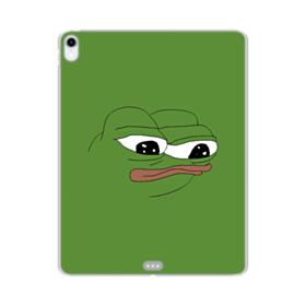 Sad Pepe frog iPad Pro 12.9 (2018) Clear Case