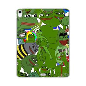 Rare pepe the frog seamless iPad Pro 12.9 (2018) Clear Case