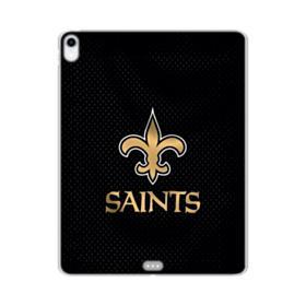 New Orleans Saints Team Logo Dots Black iPad Pro 12.9 (2018) Clear Case