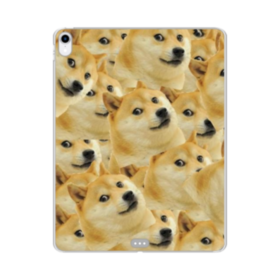 Doge meme seamless iPad Pro 12.9 (2018) Clear Case
