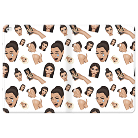 Kim Kardashian Emoji Kimoji seamless iPad Pro 12.9 (2015) Folio Leather Case