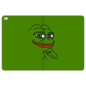 Smug Pepe Frog Funny Meme iPad Pro 12.9 (2015) Folio Leather Case