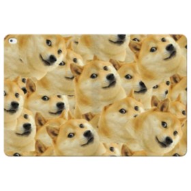 Doge meme seamless iPad Pro 12.9 (2015) Folio Leather Case