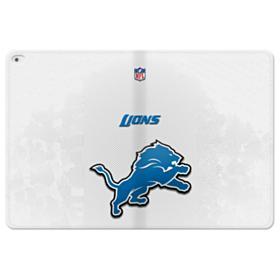 Detroit Lions Gray Mesh iPad Pro 12.9 (2015) Folio Leather Case