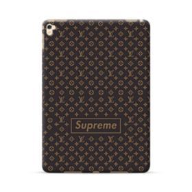 Classic Louis Vuitton Brown Monogram x Supreme Logo iPad Pro 9.7 (2016) Case