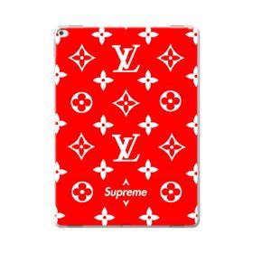 Classic Red Louis Vuitton Monogram x Supreme Logo iPad Pro 12.9 (2015) Case