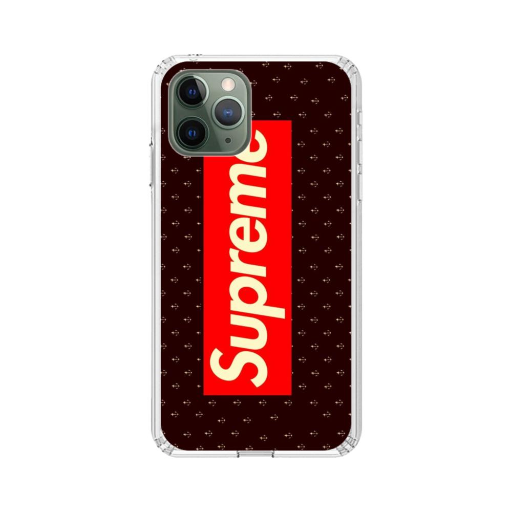 Vintage Supreme Logo With Small Anchors IPhone 11 Pro Max Clear