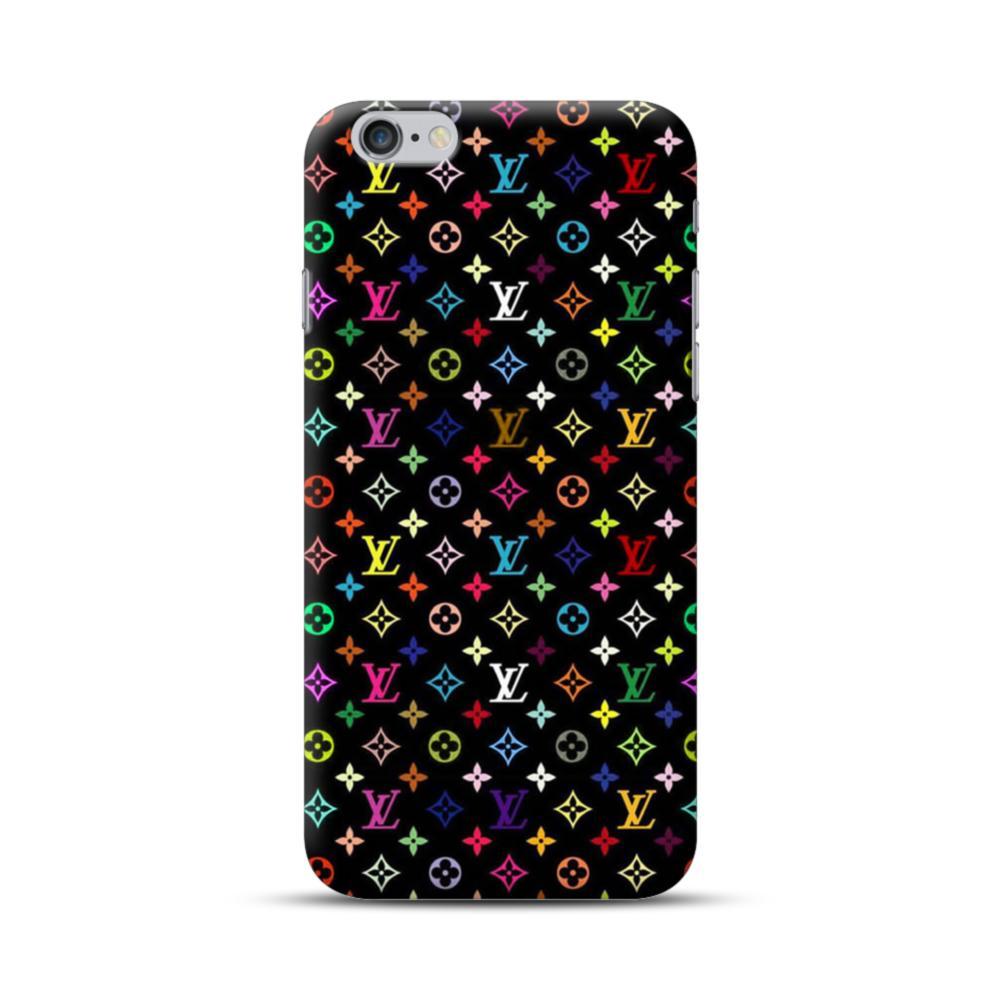 Louis Vuitton Multicolor Black iPhone 6S/6 Plus Case