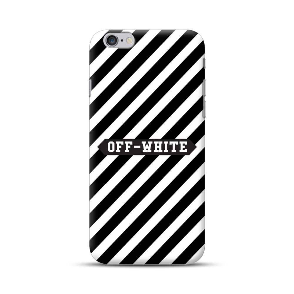 Off-White Label Stripes iPhone 6S/6 Plus Case