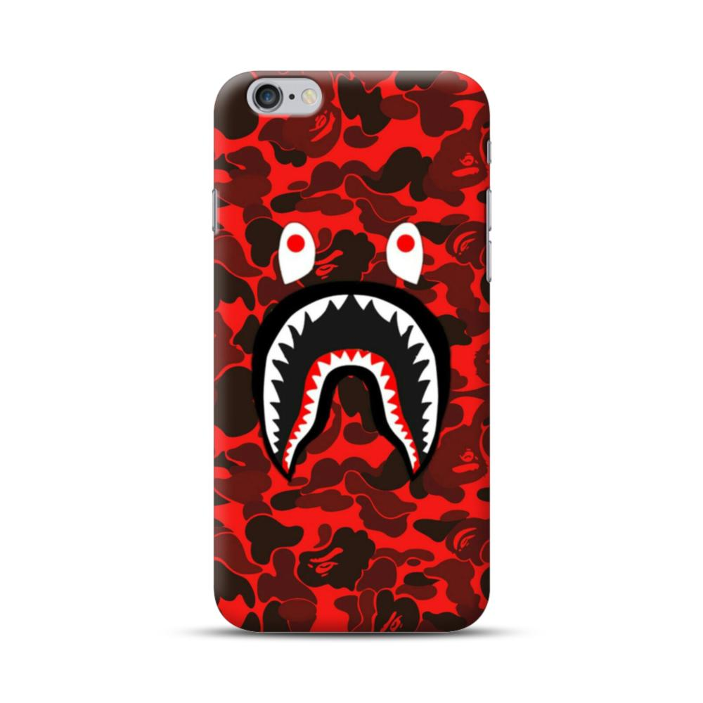 official photos bf381 96865 Shark with Red Camo iPhone 6S/6 Plus Case
