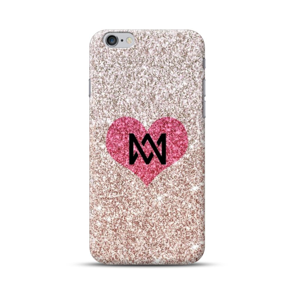 lowest price 77049 605ed Heart Gold Glitter iPhone 6S/6 Plus Case
