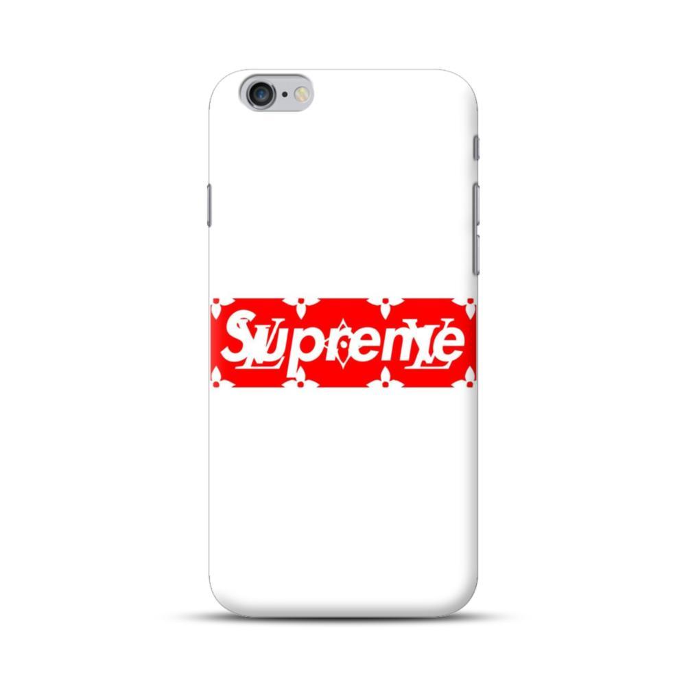 new concept 8e6d0 13b07 Louis Vuitton Monogram x Supreme Logo iPhone 6S/6 Plus Case