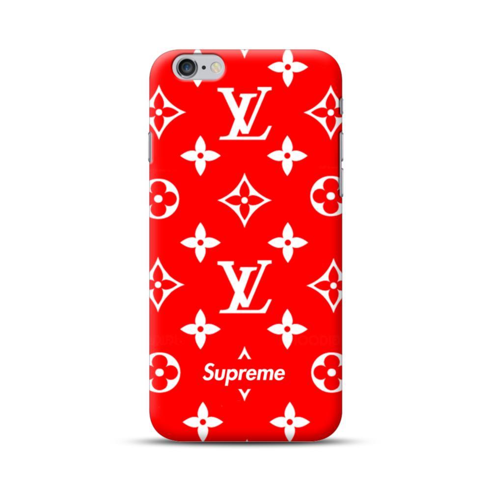 hot sales 38c6c 25304 Classic Red Louis Vuitton Monogram x Supreme Logo iPhone 6S/6 Plus Case